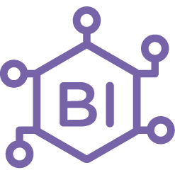 business intelligence & analytics icon